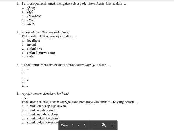 Merancang Web Database Untuk Content Server Soal Uts