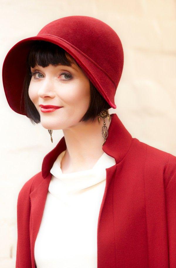 miss fishers murder mysteries 1920s fashion Great Gatsby style #milliinery #judithm #hats