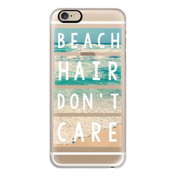 iPhone 6 Plus/6/5/5s/5c Case - Beach Hair Don't Care Block ($40) ❤ liked on Polyvore featuring accessories, tech accessories, phone cases, iphone case, cases, electronics, apple iphone cases, iphone cover case and iphone cases