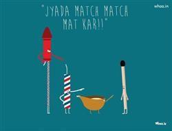 Diwali Crackers And Diya And Matchbox Jyada Match Match Mat Kar Funny Wallpaper,Diwali For Fun HD Wallpaper,Diwali Funny…