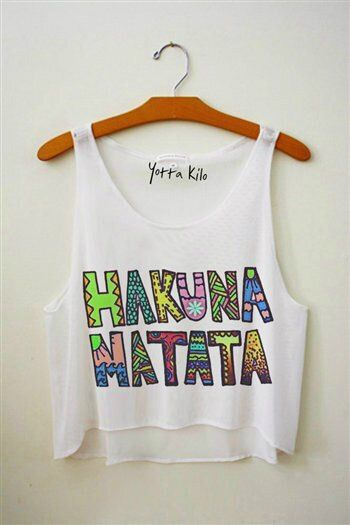 Hakuna matata fresh top, would be nice to make!