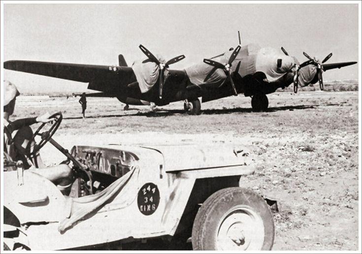 Piaggio P.108B captured on Grottaglie, South Italy, 1943
