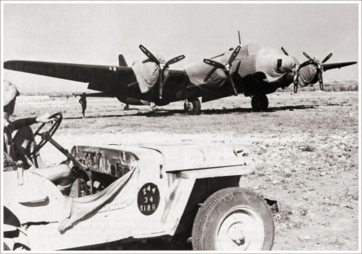 Piaggio P.108B captured on Grottaglie, South Italy, 1943