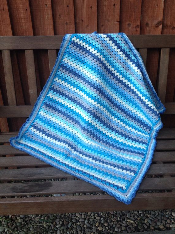 1000+ images about Crochet Baby Granny Stripe Blankets on ...