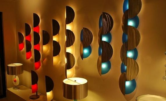 Interesting contemporary lighting great for wall