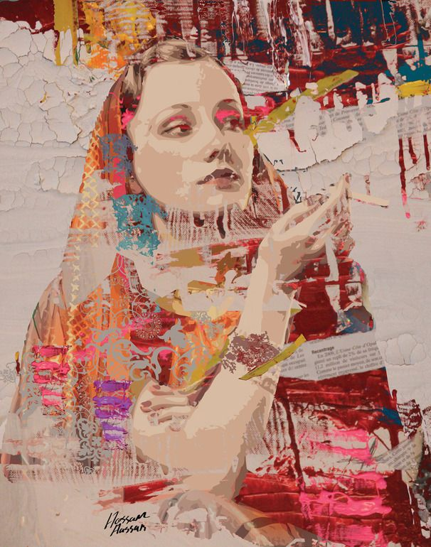 "Saatchi Online Artist: Hossam Hassan; Paint, 2012, Mixed Media ""Back to Beauty"""