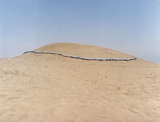 Francis Alÿs, collaborating with Rafael Ortega & Cuauhtémoc Medina, When Faith Moves Mountains, 2002