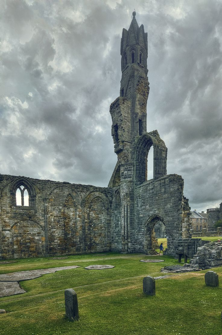 The Cathedral of St Andrews is a ruined Roman Catholic cathedral ~ built in 1158, Fife, Scotland by Laura Racero