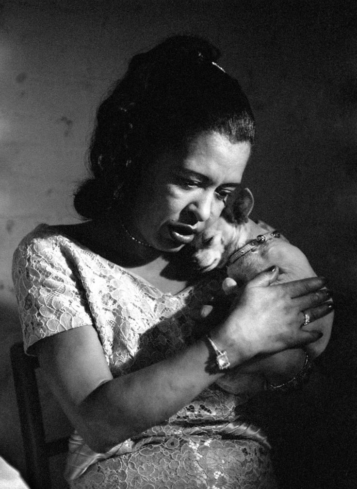 """Photo from """"Jerry Dantzic: Billie Holiday at Sugar Hill,"""" published by Thames & Hudson. The book gathers together a series of quite stunning photographs taken by Jerry Dantzic in April, 1957, when Billie Holiday was performing at Sugar Hill, a jazz club in Newark, New Jersey."""