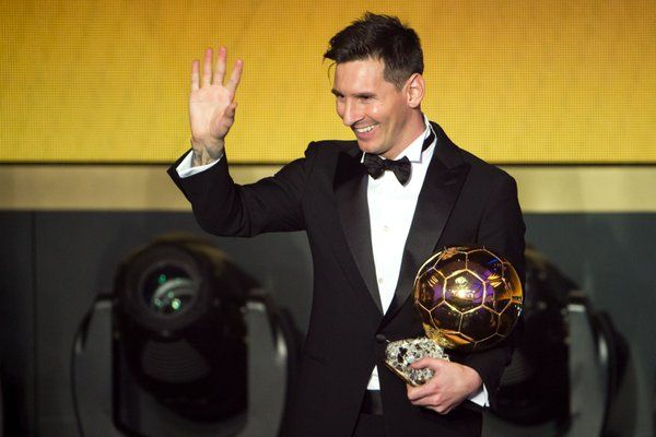 Messi wins the Ballon d'Or for the 5th time! The greatest ever.