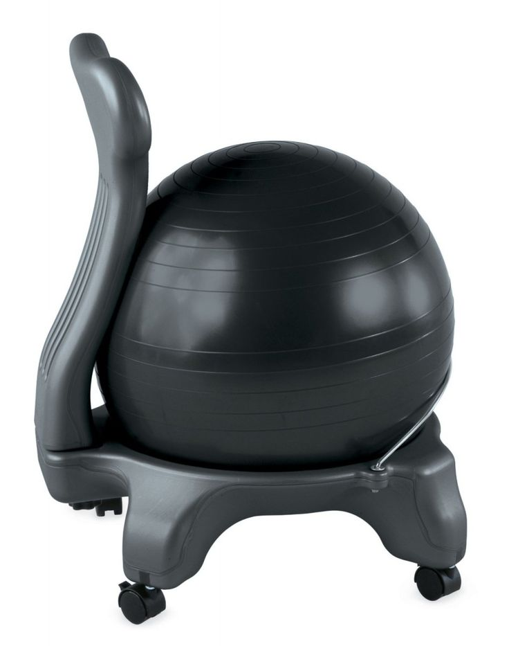 The Gaiam Balance Ball Chair developed under the consultation of chiropractic pioneer Dr Randy