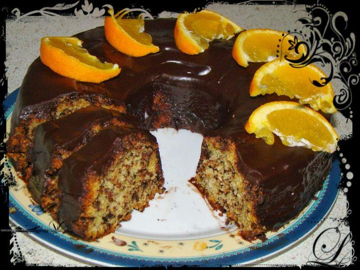 Εύκολο κέικ πορτοκαλιού χωρίς αυγά και βούτυρο