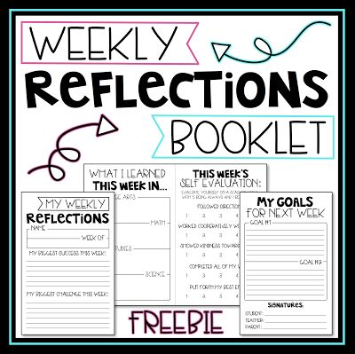 Weekly Reflections are a great way for students to take a look back at their week and reflect on what they learned, how they were succe...