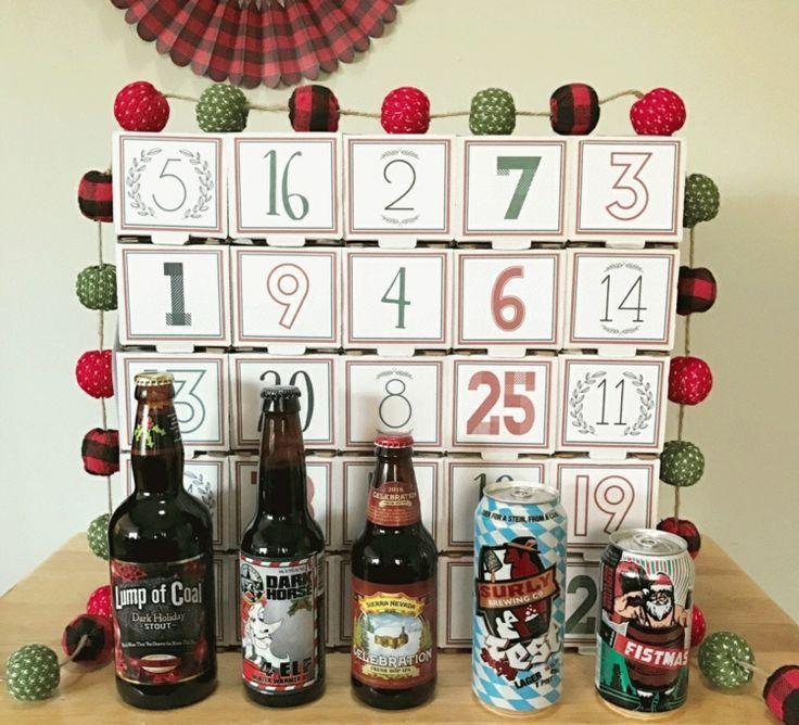 Männer Weihnachtsdeko.Bier Adventskalender Für Männer Selber Machen Kiste Karton