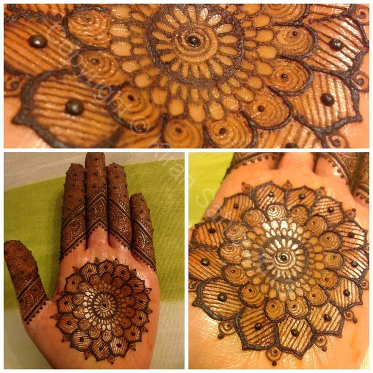 henna mandala design I love it in the middle of the palm