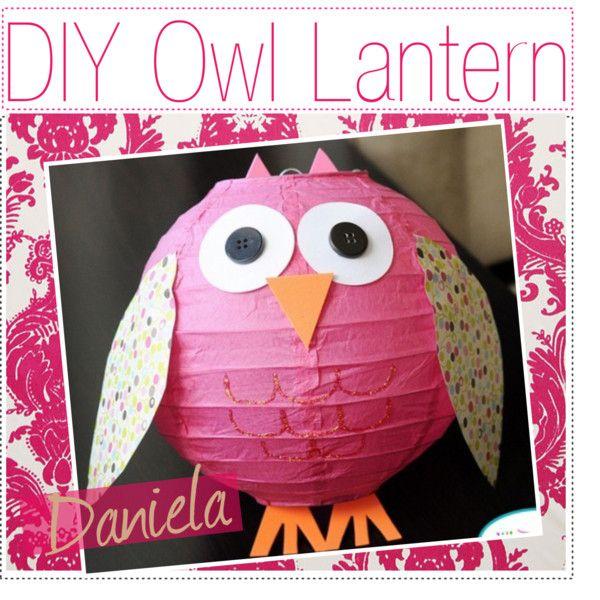 DIY owl lantern, created by thepolyvoretipchics on Polyvore
