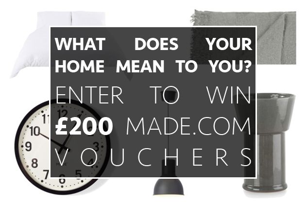 What makes your home special? Grab your chance to win £200 in Made.com vouchers. Ends 00:00 on Friday 19th December 2014