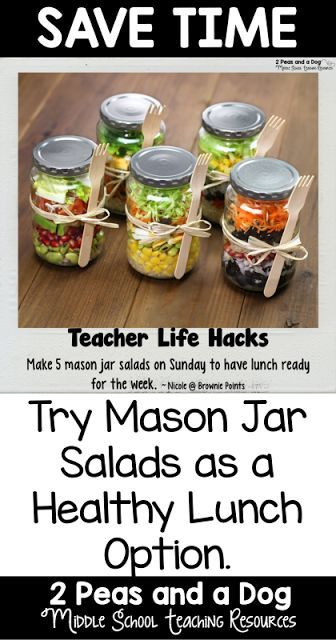 Teacher Life Hack - Teachers try mason jar salads as a quick and healthy lunch idea.