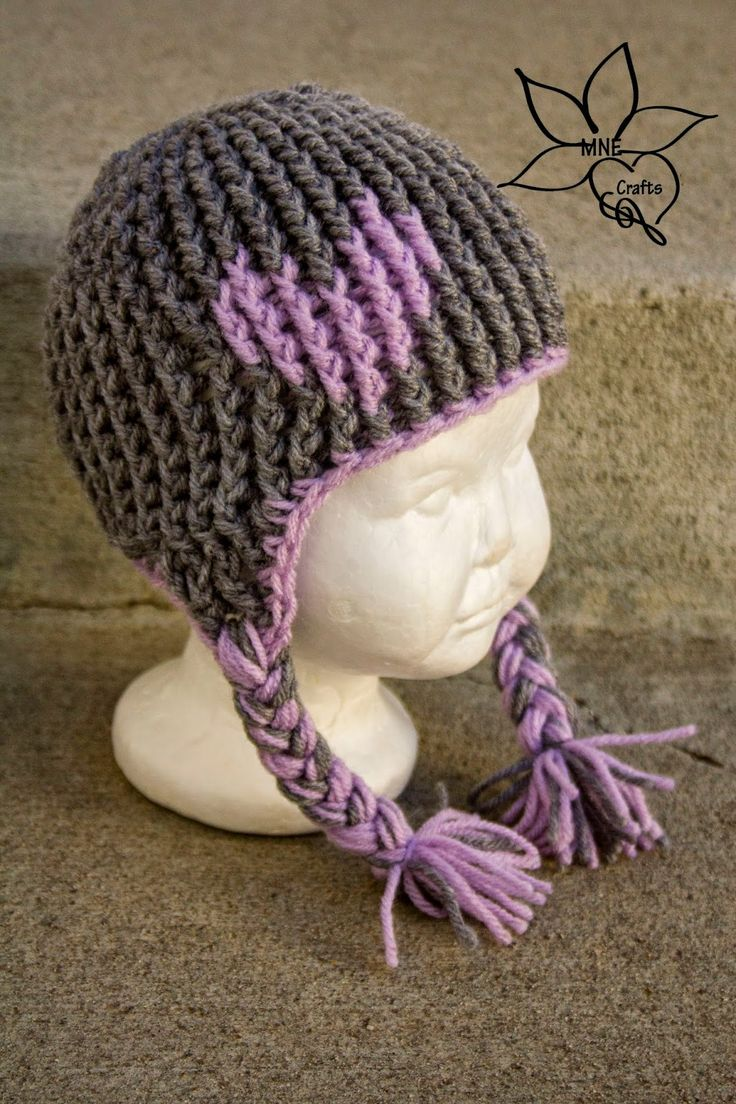 MNE Crafts: Full of Love Ear-flap Beanie - free crochet pattern