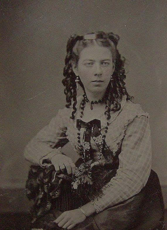 Antique Tin Type  Civil War Beauty by pandorasbox on Etsy, $34.00