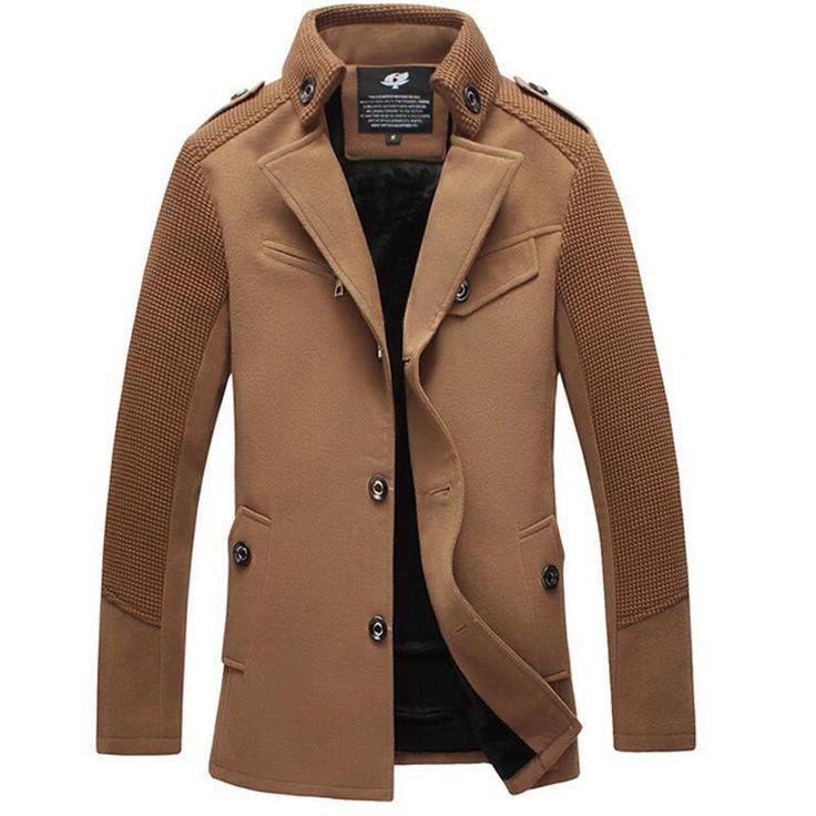 ICYMI: Winter Jacket Men Casual Windbreaker Wool Thickened Long Section Woolen Coat Men