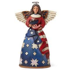 Patriotic Angel in Flag Dress - 4044664 $32.00