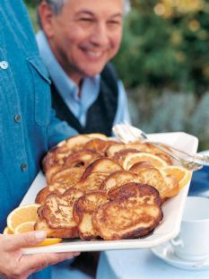 I used lemon zest as I was out of orange. So GOOOD!! Challah French Toast -Ina Garten