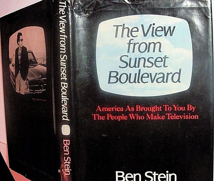 The View from Sunset Boulevard, Ben Stein, 1st edition hardcover 1979 TV history #CriticsviewofTVindustry