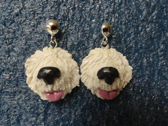 Earrings  Old English Sheepdog by Sheepiedoodles on Etsy  I NEED THESE!!
