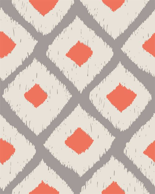 simple, cheery - Ikat pattern