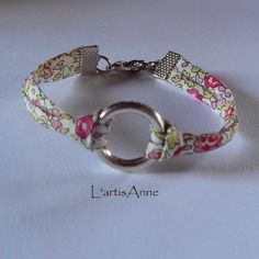 Bracelet liberty cercle argenté ° eloïse rose °.