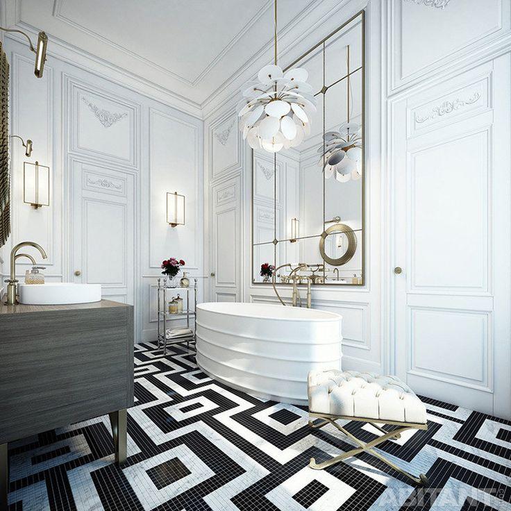 Роскошная ванная в апартаментах