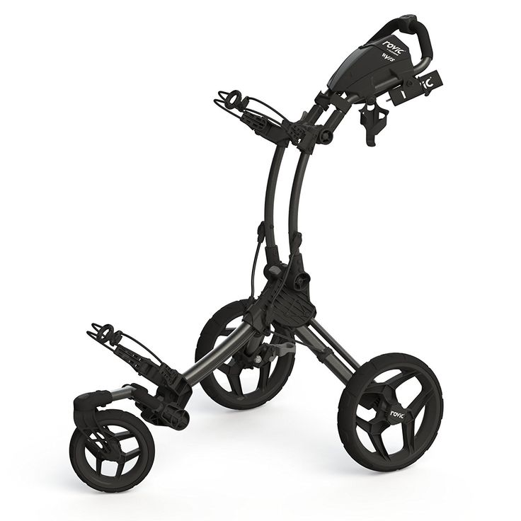 The swivel front wheel on this high quality Rovic RV1S swivel golf push cart by Clicgear will provide you with increased maneuverability!