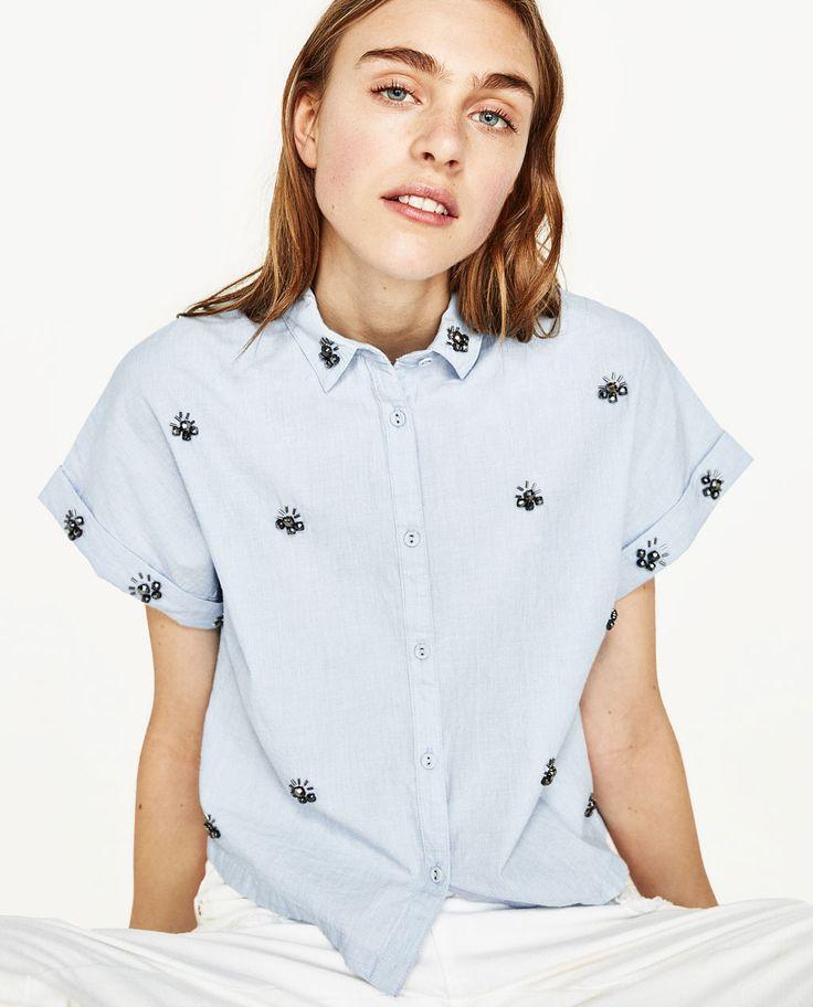 ジュエリーシャツ-すべてを見る-シャツ ブラウス-レディース | ZARA 日本