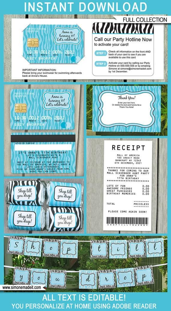 Credit Card Invitation Template In 2020 Invitation Template Printable Invitation Templates Birthday Invitation Templates