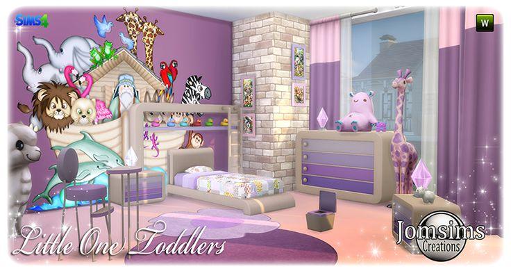 voici little one, chambre Bambins. Sims 4.  une coin coloré . Pleins d'amies animaux.  Pour que l'eveil de votre bambin, puisse se c...