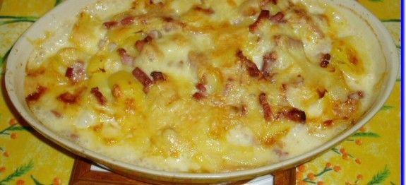 Tartiflette au fromage raclette à la moutarde - Recettes Cookeo