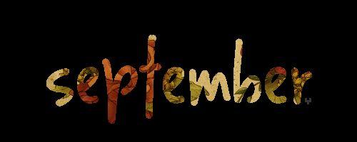 September Word Art GIF