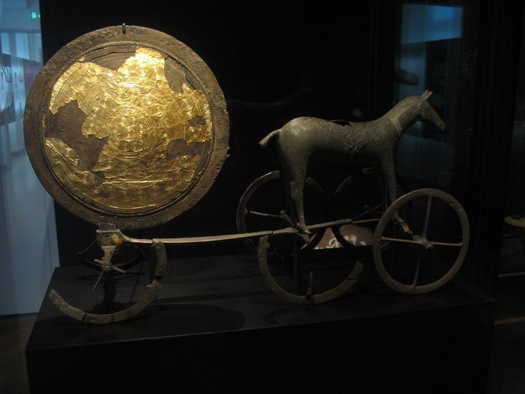 The Chariot of the Sun, Trundholm, Zealand, Denmark. Early Bronze Age, 14th century BCE
