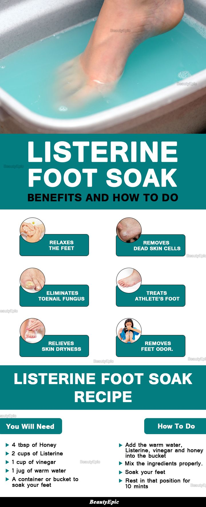 Listerine Foot Soak Benefits and How to Do