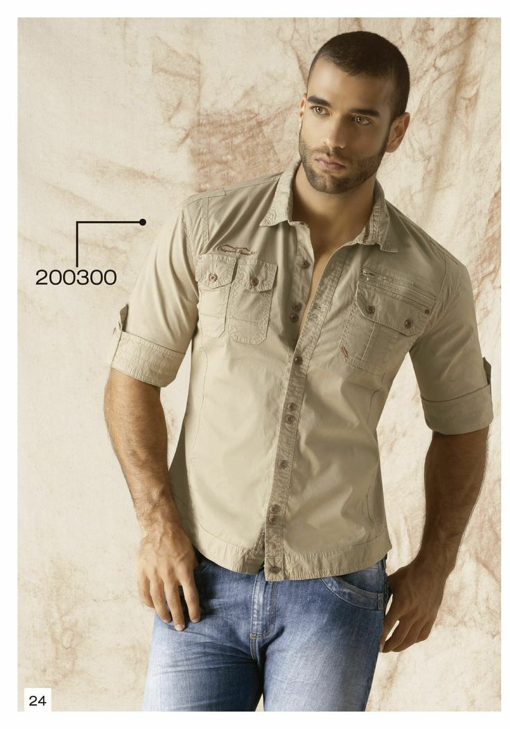 Camisa-manga-tres-cuarto-color-beige