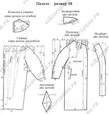 Пальто кокон с цельнокроеным рукавом: выкройка для шитья бесплатно