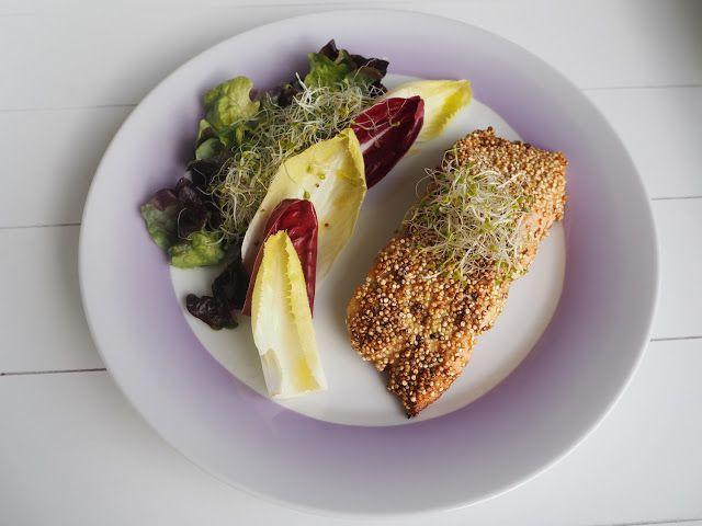 SMAKI FRANCJI współczesna kuchnia francuska: ŁOSOŚ W POSYPCE Z QUINOA