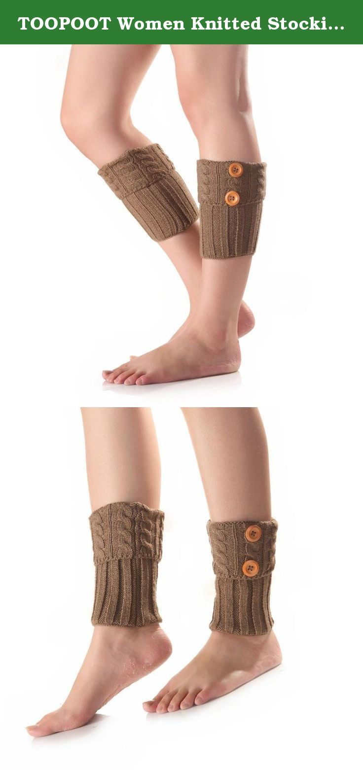 TOOPOOT Women Knitted Stocking Short Socks Leg Warmers Boot Cover (khaki). ★★ Care: Hand wash cold and lay flat to dry Soft and comfortable ★★ We love them with rain or ankle-length boots. ★★if you are women, you could buy it for yourself, your monter, your daugther, and so on, if you are men, you could buy it for your wife, your mother, your gir friends, your duagher, and so son, They will love it, Package: 1Pair Women Socks.