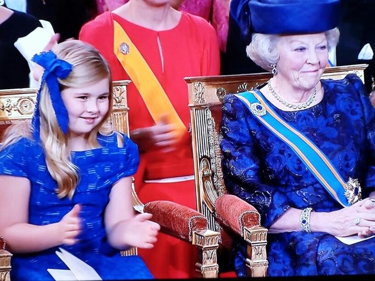 Amalia crownprinses/ Prinses Beatrix her grandma