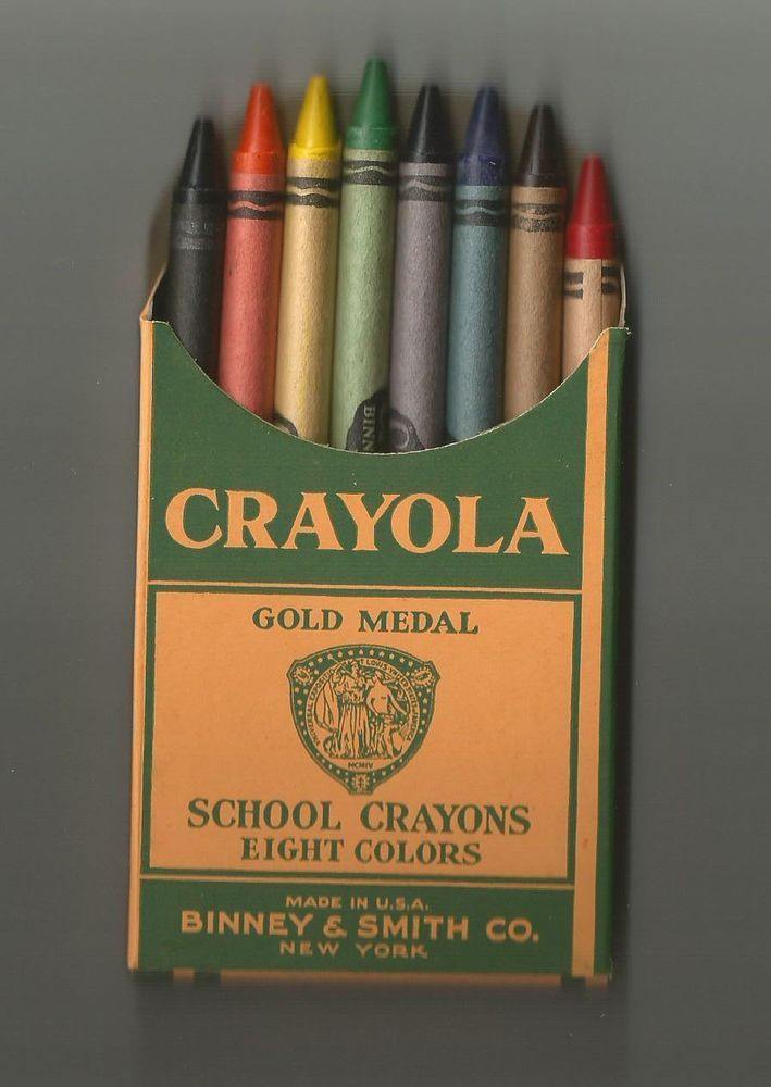 Vintage Classic 1940's 8ct Crayola Crayons by Binney ...
