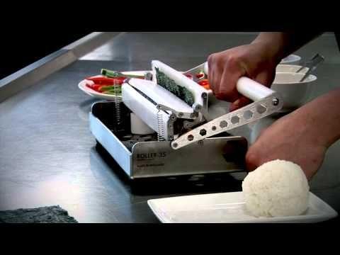 Roller-35 Sushi Rolling Machine by Sushi Machines UK - YouTube