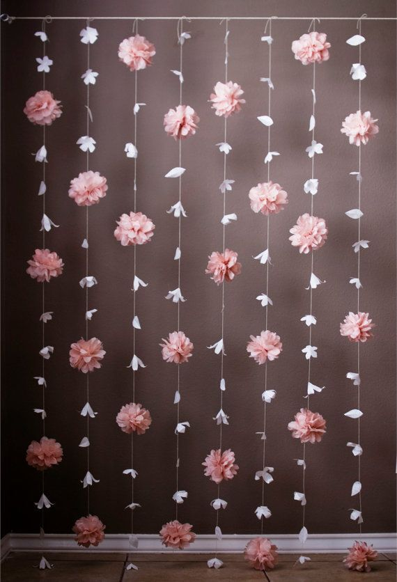 nice Paper Flower and Tissue Paper Puff Garland