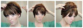 The Freckled Fox : Hair Tutorial // Maiden Braids Updo