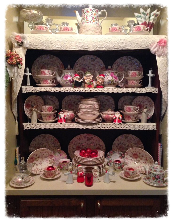 Mejores 1757 im genes de shabby chic china displays en - Vajilla shabby chic ...